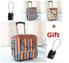 Duffel Bag Luggage Wheels Rolling With Lock Carry On For Travel Women Girl Large