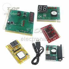 2/4 Digit 3 in1 PCI-E PC Analyzer Analysis Diagnostic Card USB Card POST Card