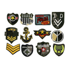 1-12PCS Iron on Sew On Army Embroidered Patch Applique military Embroidery Motif