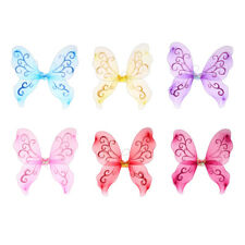 Girls Butterfly Fairy Princess Costume Wings For Kids Pretend Play Dress Up