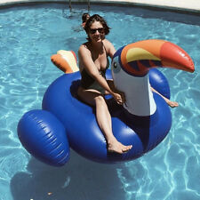 YhsBUY® Giant Large Toucan Pool Float Blue Ride-On Pelican Inflatable Water Toys