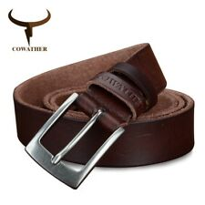 COWATHER® Top Cow Genuine Leather Men Belts Newest 3 Color Hot Design Jeans Belt