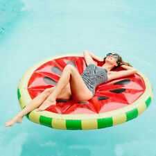 YhsBUY® 1.6m Watermelon Slice Inflatable Pool Float Swimming Ring Beach Bed