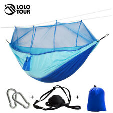 Outdoor Camping Parachute Hammock Mosquito Net Flyknit Double Leisure Sleeping
