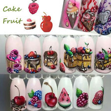 Fruit 3D Ice Cream Sticker Water Transfer Manicure Decal Women Colorful Nail Art