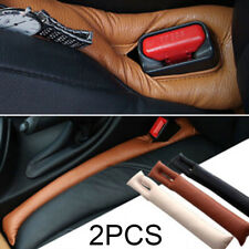 2x Leather Car Seat Gap Filler Leak Proof Soft Pad Drop Spacer Holster Blocker