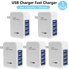 5 x 3.1A 4 Port USB Portable Home Travel Wall Charger US Plug AC Power Adapter