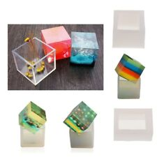DIY Cube Silicone Pendant Mold Jewelry Making Resin Casting Mould Craft Tool