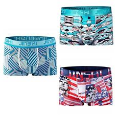 3 Pack Mens Boxer Briefs Bamboo Fiber Underwear Stretch Breathable Shorts Trunks