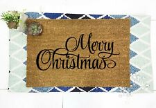 Merry Christmas Outdoor/Indoor Mat | Natural Coir thick material - Christmas