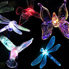 Solar LED Garden Yard Stake Path Patio Landscape Light Butterfly/ Dragonfly