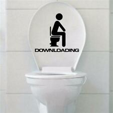ZOOYOO® Removable Toilet Seat Funny Downloading WC Bathroom Art Vinyl PVC Home