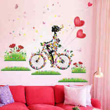 ZOOYOO® Flower Girl Butterfly Wall Stickers Colorful Living Room Decor Creative