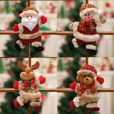 Santa Claus Christmas Ornaments Snowman Reindeer Bear Toy Doll Tree Hanging Gift