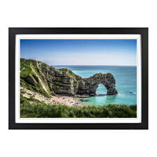 Framed Picture Print A2 Durdle Door Cliffs Dorset Seascape Scenery Wall Art