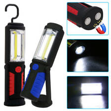 COB LED Magnetic Camping 360° Inspection Work Light Hand Torch Lamp With Hook