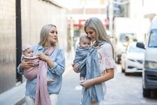 Linen Ring Sling Wrap Baby Carrier by Leather Baby Co