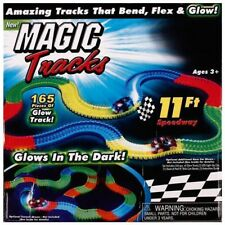 With 2 Cars!!! for Magic Tracks Glow in the Dark Amazing Racetrack Light Up Race