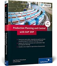 PRODUCTION PLANNING AND CONTROL WITH SAP ERP By Gerhard Keller - Hardcover *VG+*