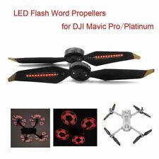 2x 4x Low-Noise LED Flash Word Propeller Props For DJI Mavic Pro Platinum Drone