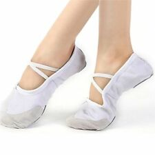 Adult Ballet Dance Shoes Elastic Band Rubber Slippers Canvas Pointe Gymnastics