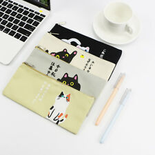 Creative Cat Cartoon Zipper Pen Pencil Case Storage Bag Pouch Stationery Gift