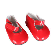 Dolls Shoes Flats for 18'' American Doll Dolls Sticky Strap Pu Leather Dress Up