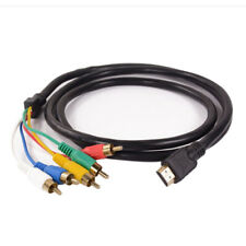 NEW HDMI to 5 RCA Male Audio Video 5FT Cable Cord Adapter for TV HDTV DVD LOT BI
