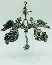 1988 Holiday Heirloom Hallmark Ornament #2 Collectors Club Silver-Plated Angels