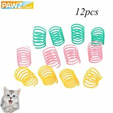 PAWZ® 12Pcs/Lot Pet Cat Colorful Springs Cat Toys Plastic Slinky Toys For Cats