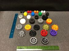 LEGO NEW Black Wheel Hard Plastic Treaded Lot x4 Mindstorms Technic Large 11094