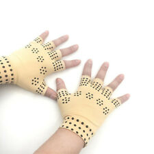 Arthritis Gloves Fingerless Copper Fit Compression Medical Pain Relief Support