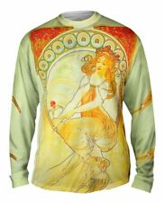 "Yizzam- Alphonse Mucha - ""The Arts Painting"" (1898) - New Mens Long Sleeve Tee"