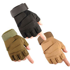 Military Tactical Mechanics Half Finger Safe Hand Protection Working Gloves Apt