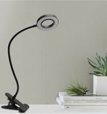 LED Desk Lamp with Clamp Dimmable Reading Light Eye-Care USB LED Bedside Lamp