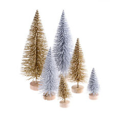 3pcs Stand Mini Christmas Tree Small Pine Trees Xmas Gifts Home Desktop Decor BH