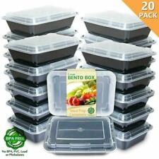 Enther Meal Prep Containers [20 Pack] Single 1 Compartment With Lids, Food Stora