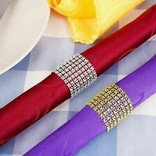 100 Pieces rhinestone napkin rings for wedding table decoration festival party s