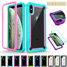 For iPhone XS Max X SE 6s 7 8 Plus Armor Case Shockproof Heavy Duty Rugged Cover