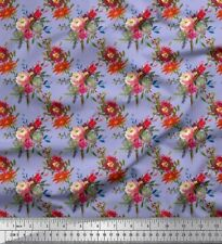 Soimoi Fabric Leaves & Peony Floral Printed Craft Fabric by the Yard - FL-406B