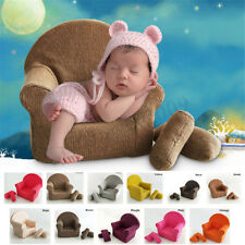 Newborn Baby Photo Props Small Sofa Seat with 2 Cushions Photography Pose Shoot