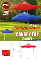 10x10ft  Tent Cover Canopy Top Replacement Patio Gazebo Outdoor Sunshade