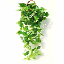 Justoyou Artificial Hanging Plants Ivy Vine Fake Leaves Greeny Chain Wall Home R