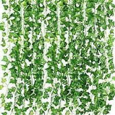 Qc Life 84 Ft Artificial Ivy Fake Greenery Leaf Garland Plants Vine Foliage Flow