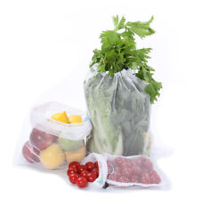 Reusable Produce Bags with Tare Weight See Through Mesh Grocery  Bags