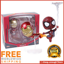 Marvel Cosbaby Spider-Man Homecoming Iron Man PVC Bobble Head Figure Model Toy