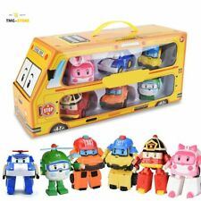 6in1 Robocar POLI Toy ROY AMBER Robot Car Transformers Figure Toy Kids Gift New