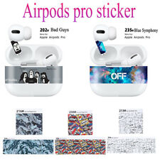 For AirPods Pro Adhesive Skin Film Print Dust-proof Protective Vinyl Sticker.