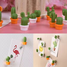 6pcs Set Fridge Magnets Succulent Cactus Plant Magnet Button Sticker DecorPLUS