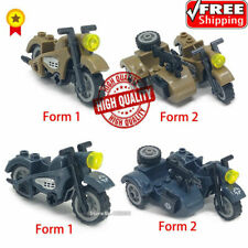 Motorcycle WW2 Germany Military Lego Army Soldiers Rifle Vehicle Model Weapons